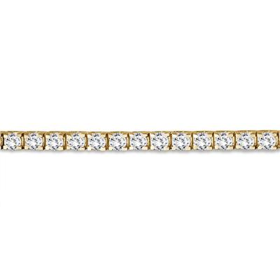 5.00 Carat Classic Diamond Tennis Bracelet in 14K Yellow Gold