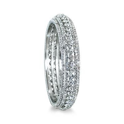 White Crystal Estate Bangle Bracelet