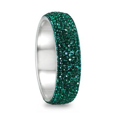 Green Crystal Rhinestone Bangle