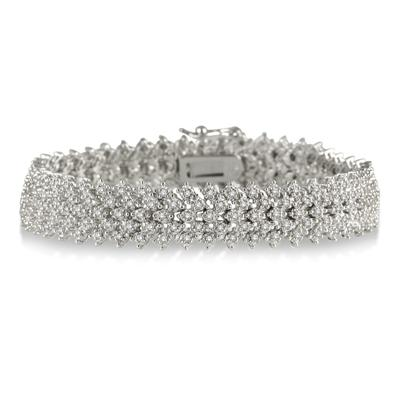 2.00 Carat Diamond Bracelet in Platinum Plated Brass