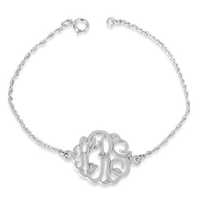 Monogram Initial Bracelet in .925 Sterling Silver