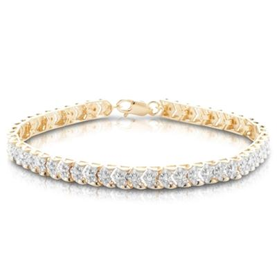 1/4 Carat Diamond Bracelet in 18K Yellow Gold Plated Sterling Silver