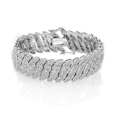 1 Carat Diamond Bracelet in Rhodium Plated Brass