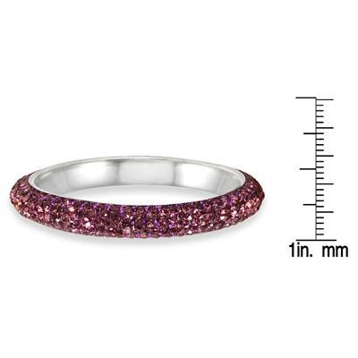 Purple Crystal Rhinestone Bangle (Large)