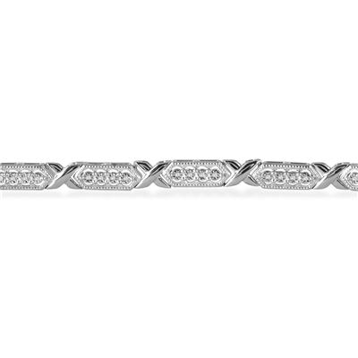 1/4 Carat Diamond Bracelet in .925 Sterling Silver
