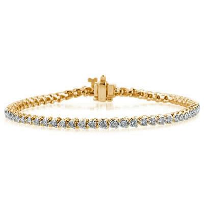 2.00CTW Classic Diamond   Bracelet in 14K Yellow Gold