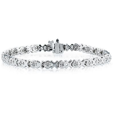 1/4 Carat Diamond Bracelet in 14K White Gold