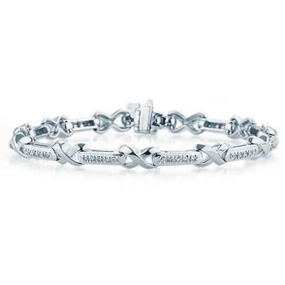 1/2 Carat Diamond Bracelet in 14K White Gold