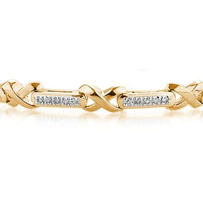 1/2 Carat Diamond Bracelet in Yellow Gold