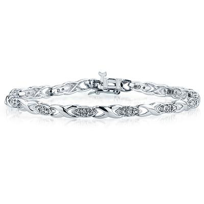 1/4 Diamond Link Bracelet in 10K White Gold