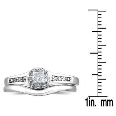 1/4 CTW Diamond Bridal Set in 10K White Gold