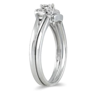 1/6 Carat TW Diamond Bridal Set in 10K White Gold