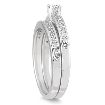 1/2 Carat TW Diamond Bridal Set in 10K White Gold