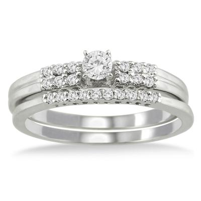 1/4 Carat TW Diamond Bridal Set in 10K White Gold