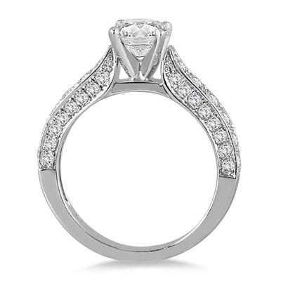 2 1/2 Carat White Diamond Bridal Set in 14K White Gold (J-K Color, I2-I3 Clarity)
