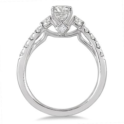 1 1/10 Carat TW Diamond Bridal Set in 14K White Gold