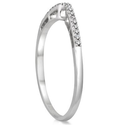 1/3 Carat TW Diamond Split Shank Bridal Set in 10K White Gold