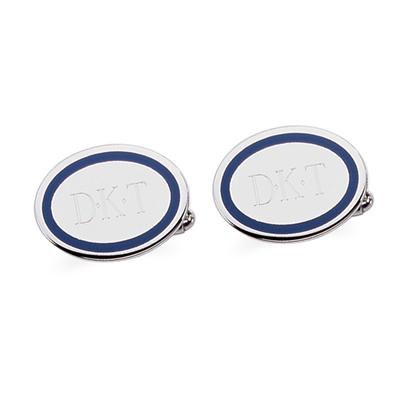 Sterling Silver Outlined Cuff Links