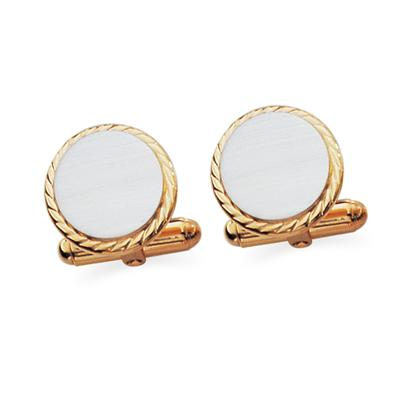 Sterling Silver With Gold Plated Cuff Links