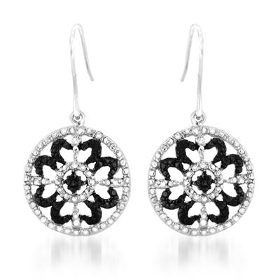 Diamond Dangle Antique Earrings in .925 Sterling Silver