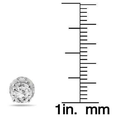 1 Carat Diamond Earrings in 14K White Gold