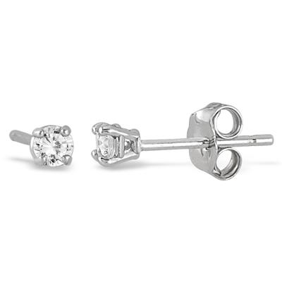 1/5 Carat Diamond Stud Earrings in .925 Sterling Silver