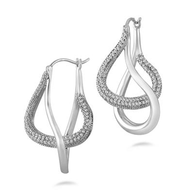 3/4 Carat TW Diamond Earrings in .925 Sterling Silver