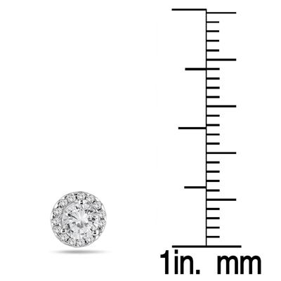 5/8 Carat TW Diamond Halo Earrings in 14K White Gold