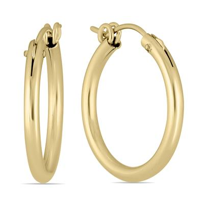 14K Yellow Gold Filled Hoop Earrings (22mm)