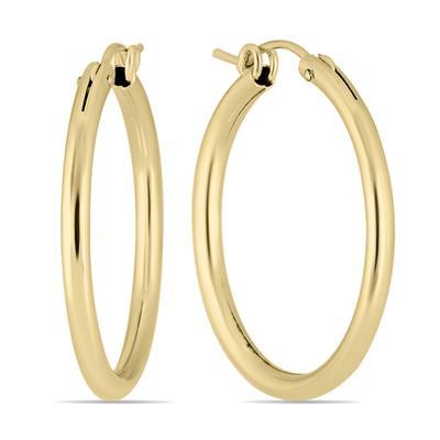14K Yellow Gold Filled Hoop Earrings (27mm)