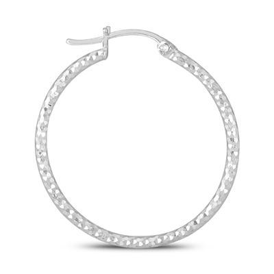 30MM Hoop Earrings In .925 Sterling Silver