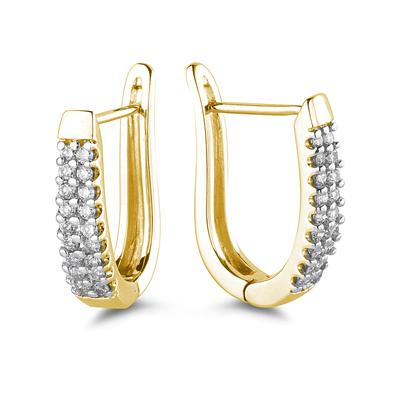 .50CTW Diamond Hoop Earrings in Yellow Gold