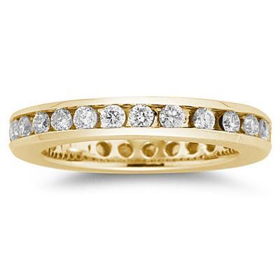 1/2 Carat Diamond Eternity Ring in 14k Yellow Gold