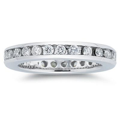 3/4 Carat Diamond Eternity Ring in 14k White Gold