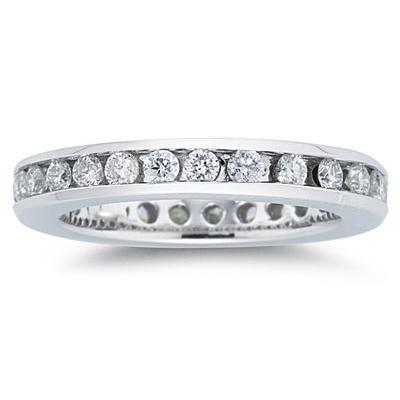 3/4 Carat Diamond Eternity Ring in 14k White Gold