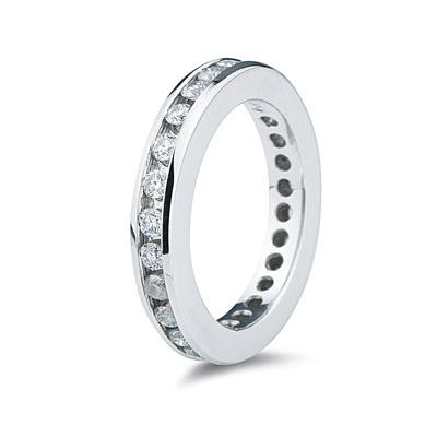 1CT Diamond Eternity Ring in 18k White Gold