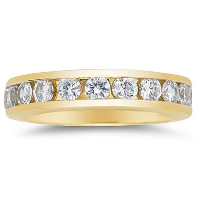 1.5CT Diamond Eternity Ring in 18k Yellow Gold