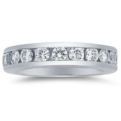 2CT Diamond Eternity Ring in 18k White Gold