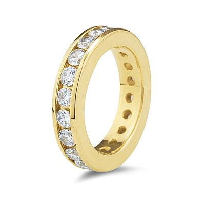 2.5CT Diamond Eternity Ring in 18k Yellow Gold