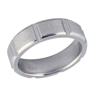 14K White Gold Modern Wedding Ring