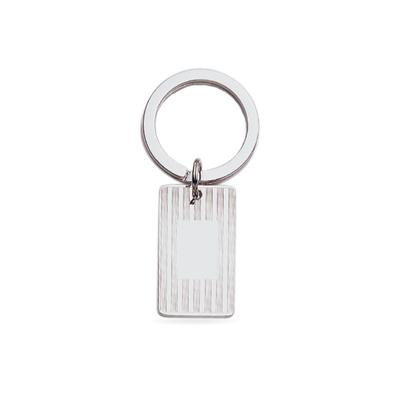 Silver Polished Key Ring