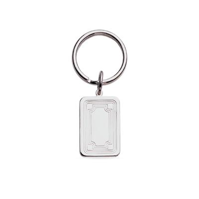 23k Rhodium Electroplated Key Ring