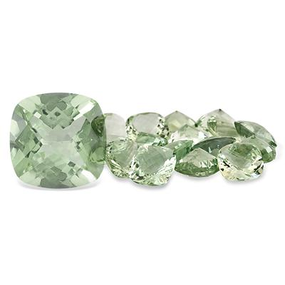 8 Carat Cushion Cut Green Amethyst Gemstone