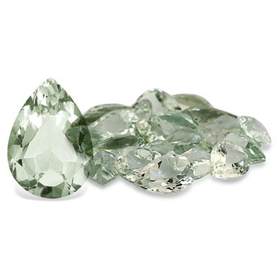 5.10 Carat Pear Shape Green Amethyst Gemstone