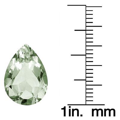 5.10 Carat Pear Shape Green Amethyst Gemstone