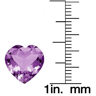 4.50 Carat Heart Shape Amethyst Gemstone