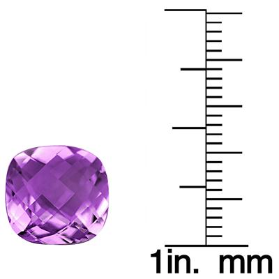3 1/4 Carat Cushion Cut Amethyst Gemstone
