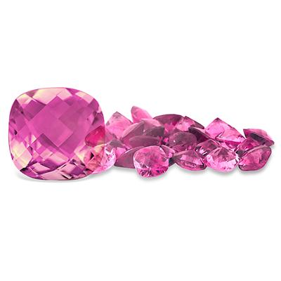1.70 Carat Cushion Cut Pink Topaz Gemstone