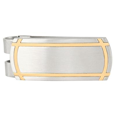 Gold Toned Band Lead Stainless Steel Money Clip