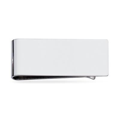 Plain Sterling Silver Polished Money Clip